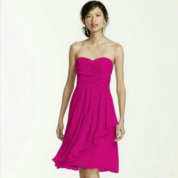 1acf44840dca David's Bridal Dresses & Skirts - David's Bridal Begonia pink Bridesmaid  dress